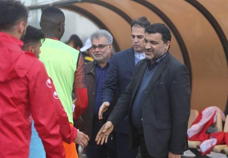 حضور محمدی و آذری در تمرین نیمه تمام فولاد خوزستان