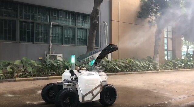 روبات های ضدعفونی کننده به جنگ کرونا می فرایند